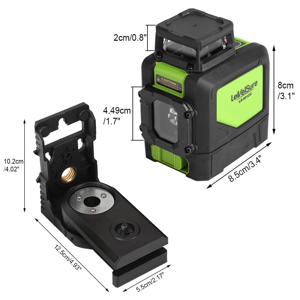 Nivel l ser luz verde autonivelante 5 l nea 360 rotativo for Nivel laser autonivelante