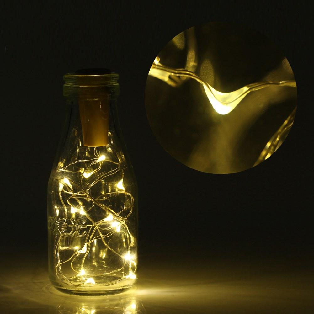 led wein flasche kork form lichter flaschenkorken schnur lampe patei deko ebay. Black Bedroom Furniture Sets. Home Design Ideas
