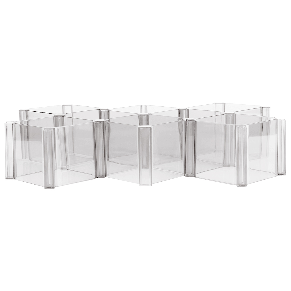 6 set r glable organisateur de tiroir diviseur plastique bo te de rangement ebay. Black Bedroom Furniture Sets. Home Design Ideas