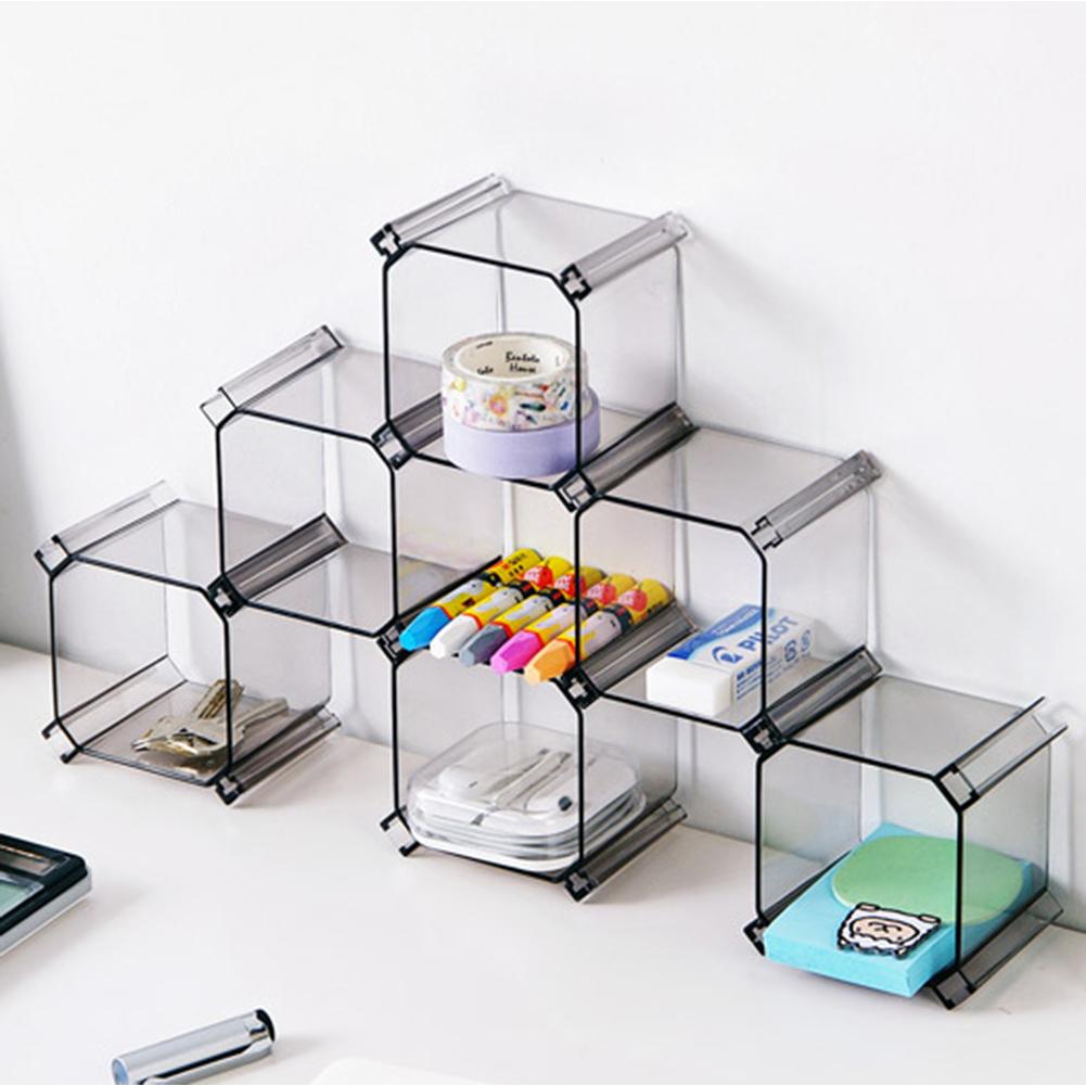 6 set r glable organisateur de tiroir diviseur plastique bo te de rangement ebay. Black Bedroom Furniture Sets. Home Design Ideas