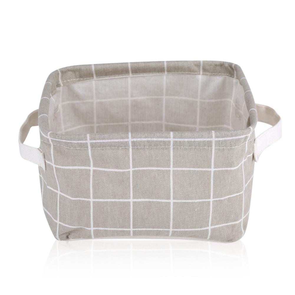 pliable bo tes de rangement tissu de lin panier de rangement grande capacit ebay. Black Bedroom Furniture Sets. Home Design Ideas