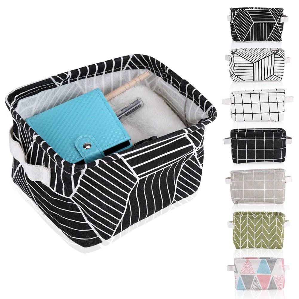 pliable bo tes de rangement tissu de lin panier de rangement grande capacit eur 2 26. Black Bedroom Furniture Sets. Home Design Ideas