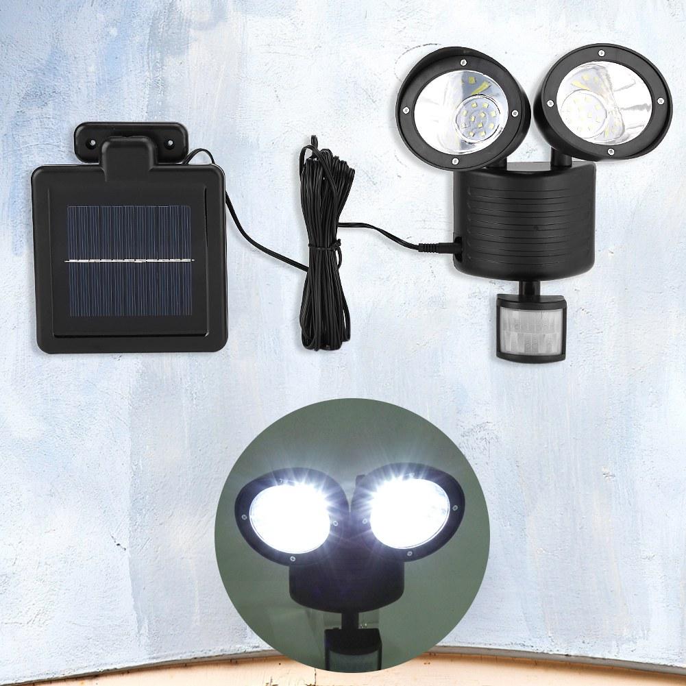 detecteur de mouvement lumiere exterieur great aozbz led solaire motion sensor light tanche. Black Bedroom Furniture Sets. Home Design Ideas