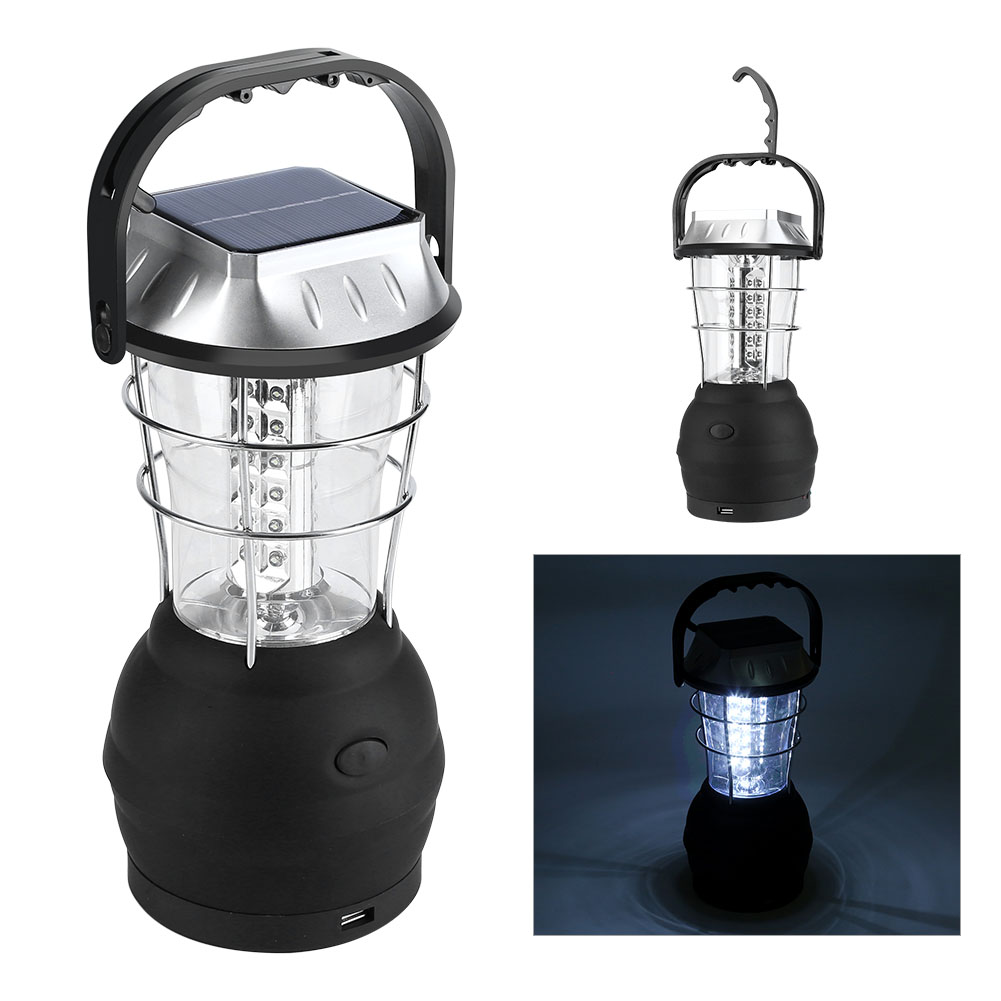 36 led tragbar usb solarleuchte aufladbare laterne outdoor camping lampe ebay. Black Bedroom Furniture Sets. Home Design Ideas