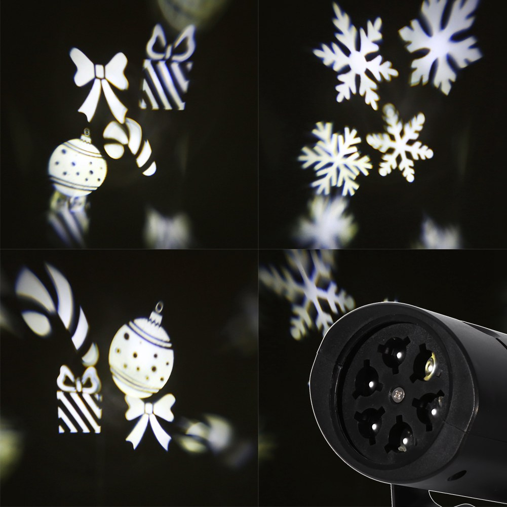 Led laser projecteur flocon de neige ext rieur int rieur for Projecteur led exterieur noel