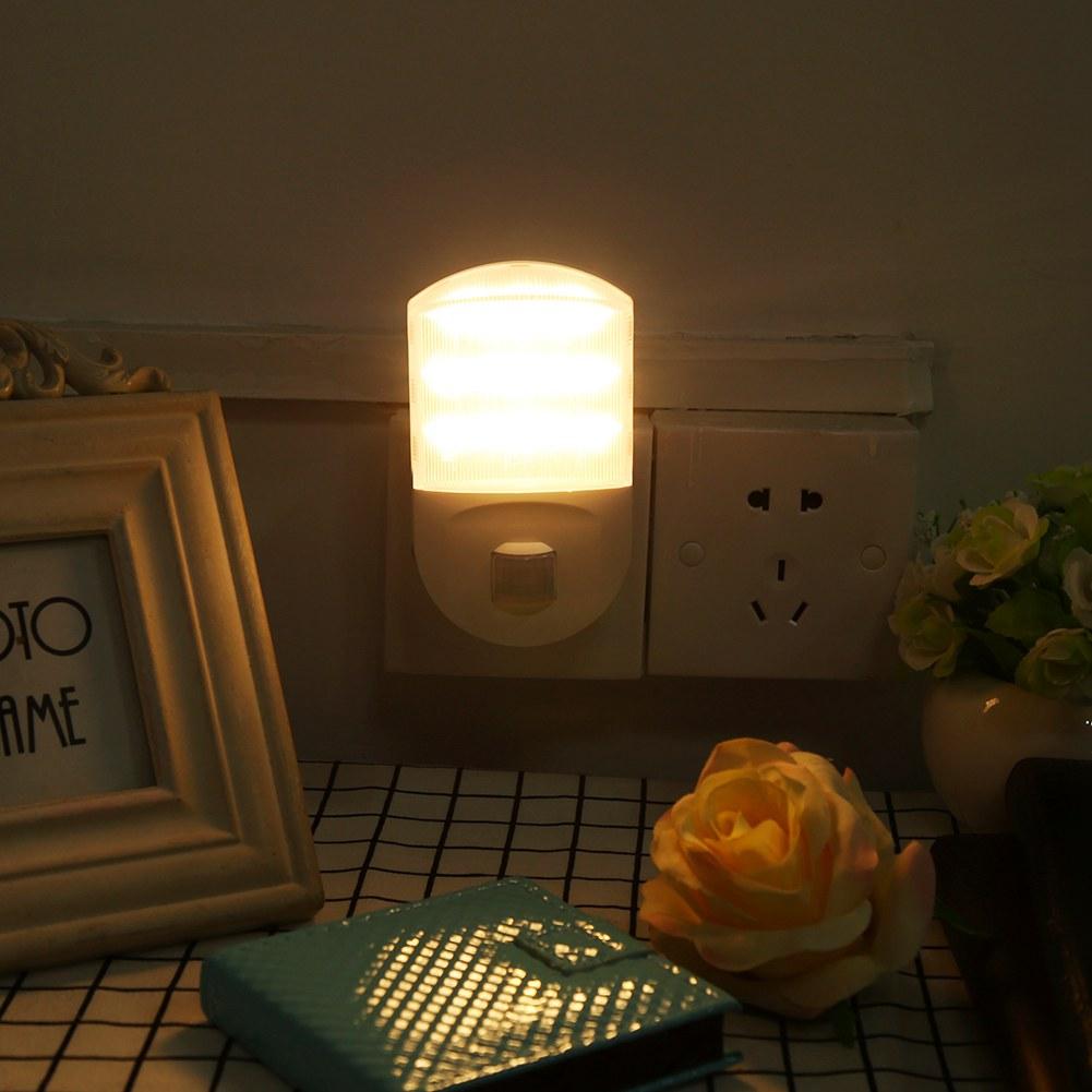 led nachtlichter lampe sensor steckdose flur zimmer. Black Bedroom Furniture Sets. Home Design Ideas