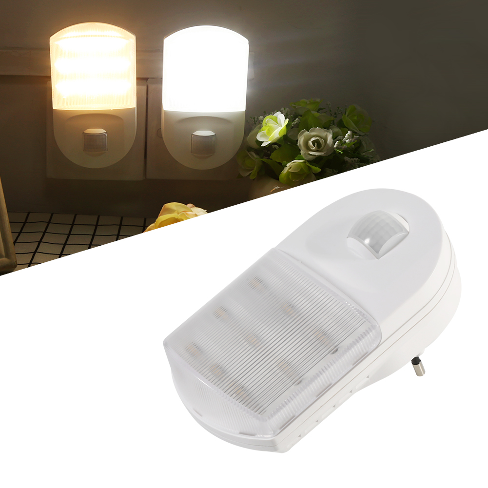 led nachtlichter lampe sensor steckdose flur zimmer energiesparend eu stecker ebay. Black Bedroom Furniture Sets. Home Design Ideas