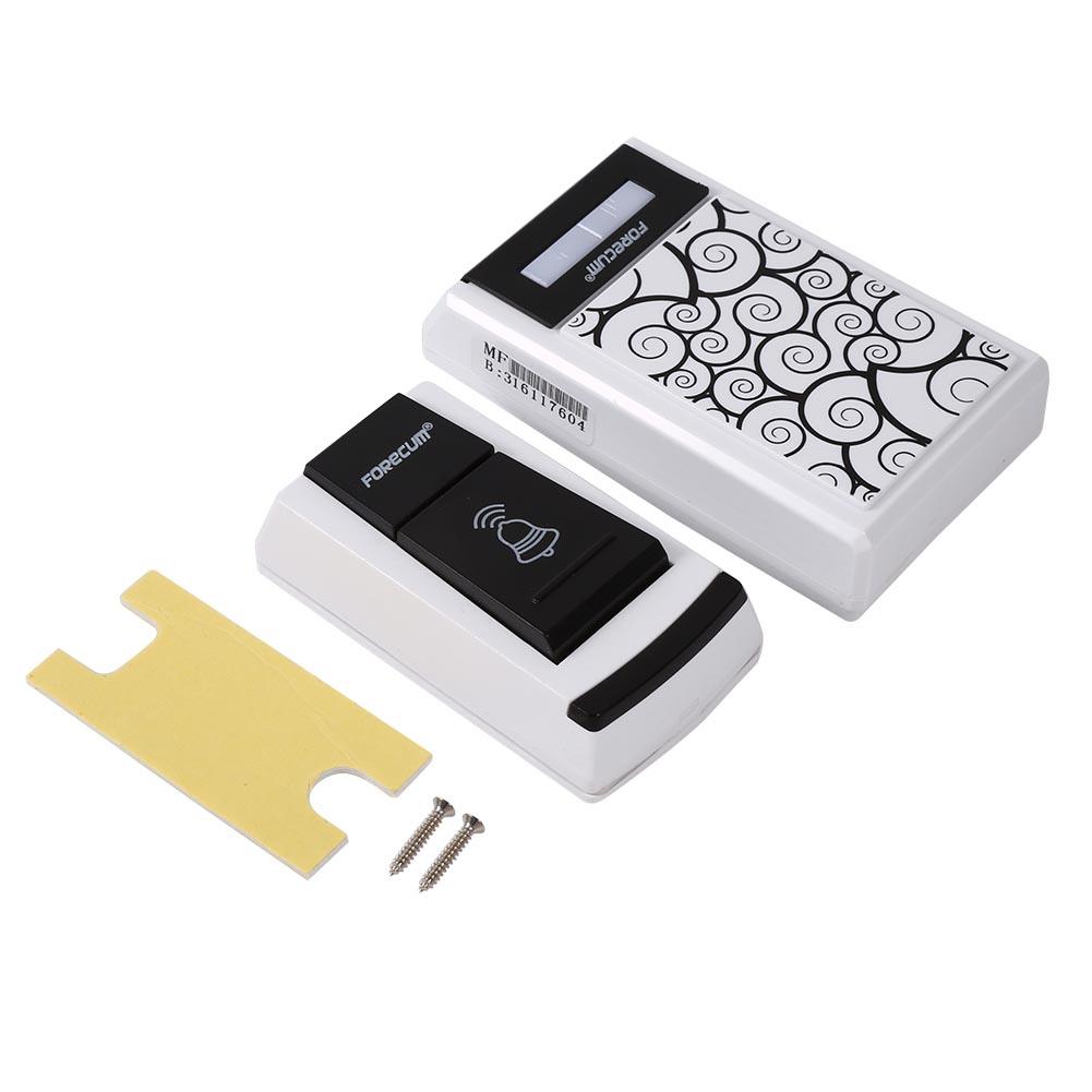 Wireless doorbell door bell 1 2 receiver waterproof white for 1 by one door chime