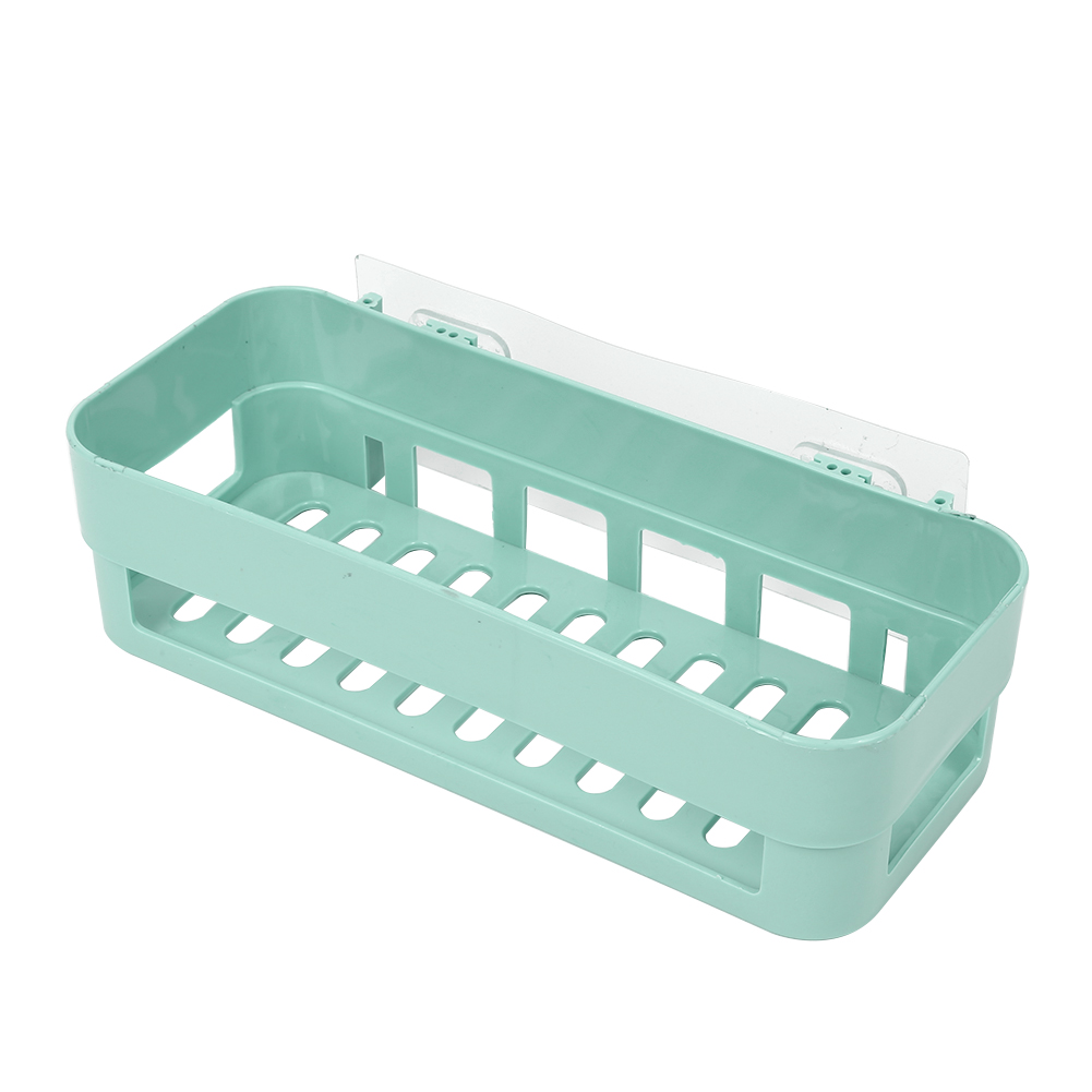 Kitchen Bathroom Wall Storage Shelf Hanging Rack Corner Basket ...