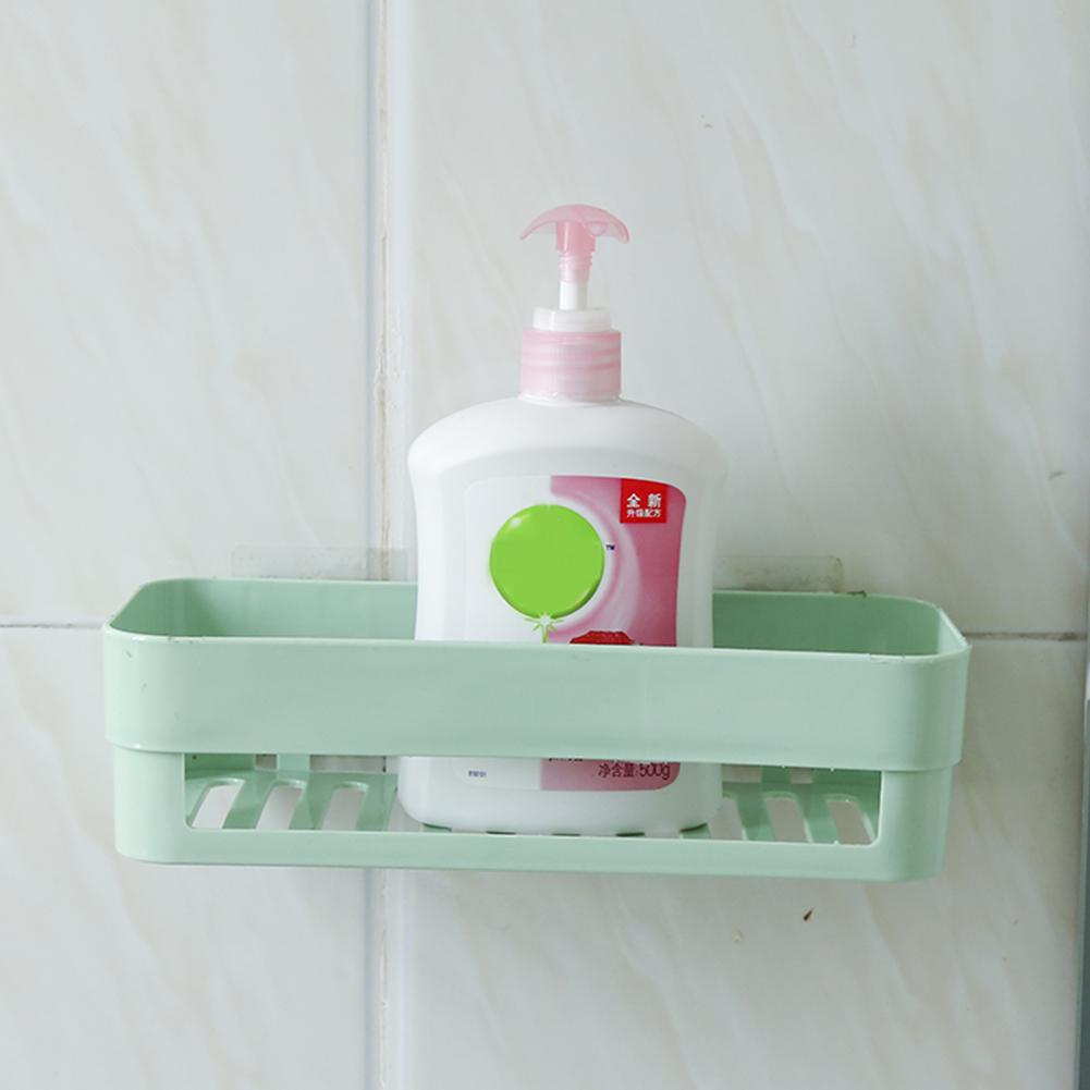 Plastic Bathroom Kitchen Corner Wall Storage Rack Organizer Shower ...