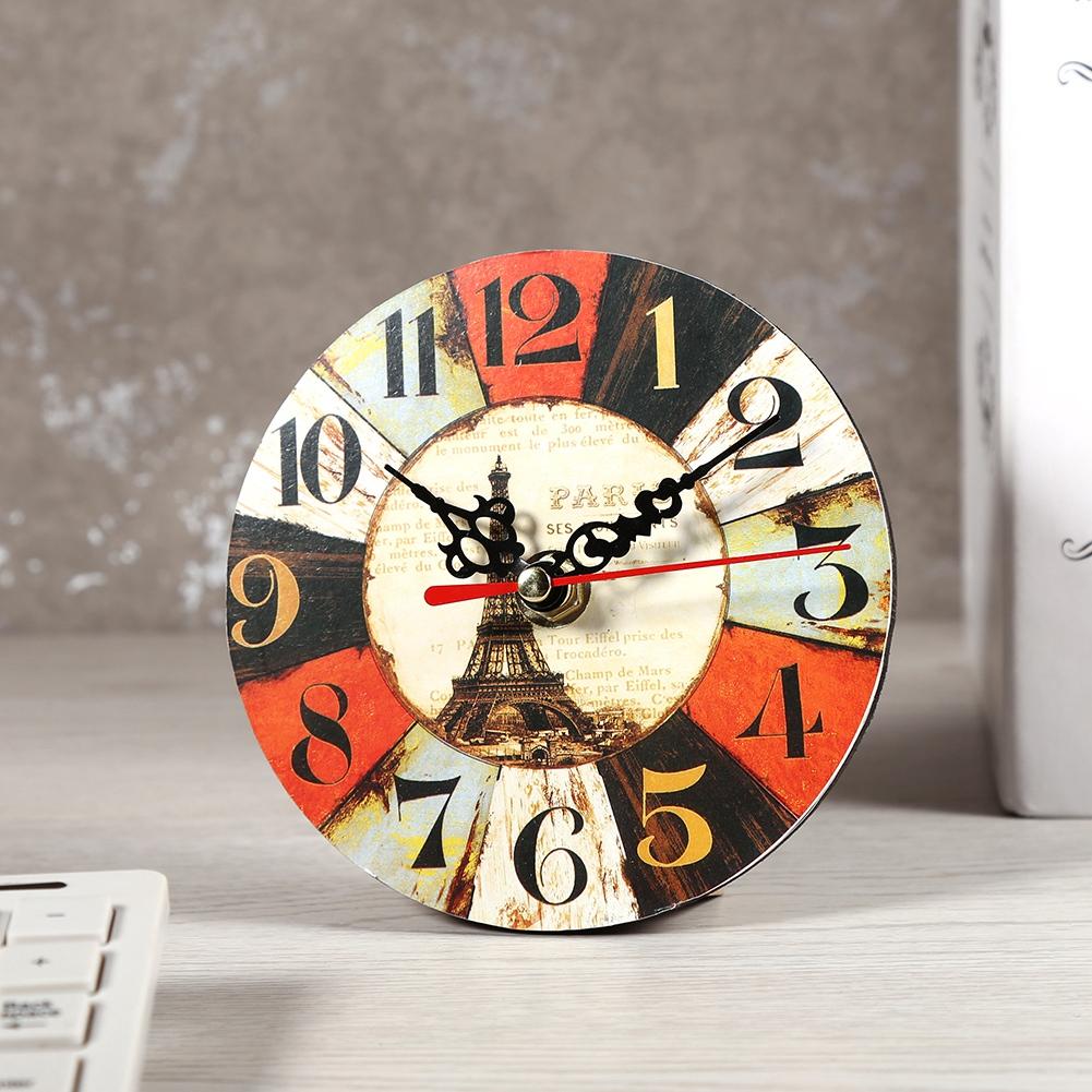 Horloge Ronde En Bois Antique Style Cr Atif Artistique