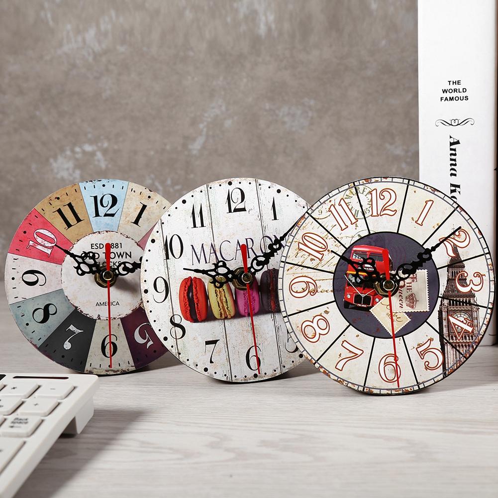 horloge ronde en bois antique style cr atif artistique. Black Bedroom Furniture Sets. Home Design Ideas