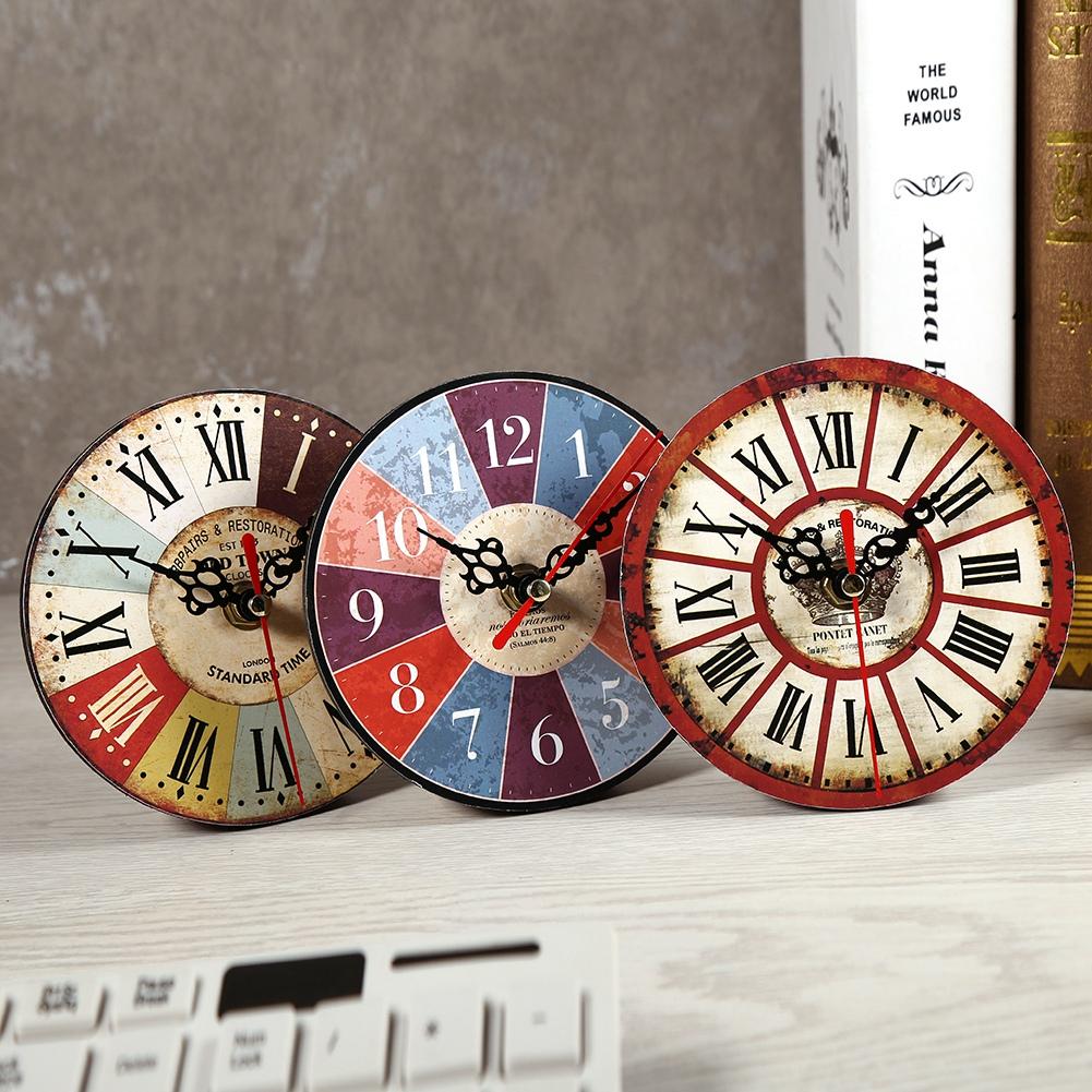 horloge ronde en bois antique style cr atif artistique horloge murale d coration eur 3 29. Black Bedroom Furniture Sets. Home Design Ideas