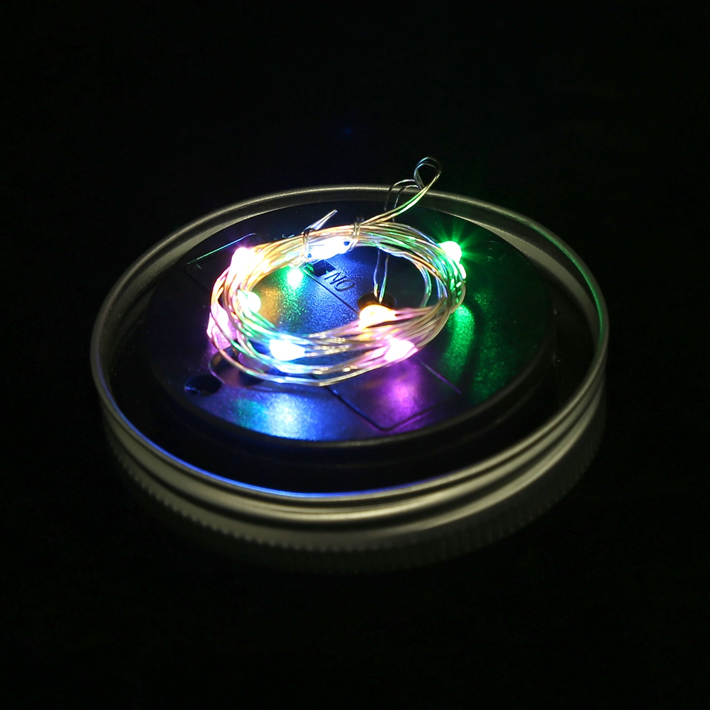 Tragbar led solar glas deckel nacht licht lampe mehrfarbig for Solar licht
