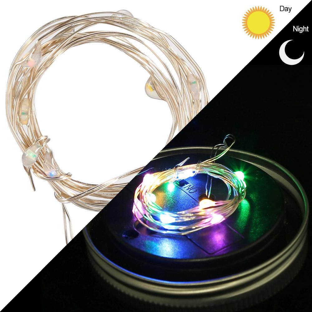 tragbar led solar glas deckel nacht licht lampe mehrfarbig. Black Bedroom Furniture Sets. Home Design Ideas
