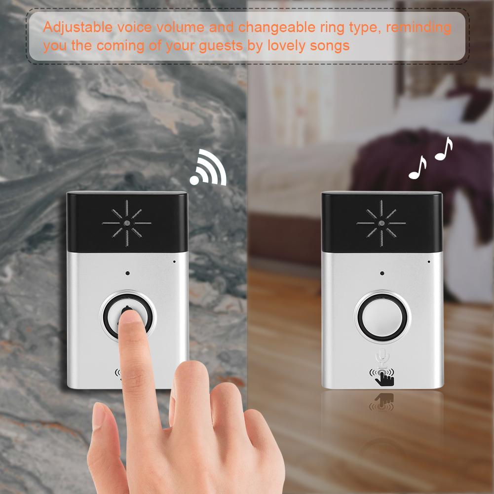 drahtlose funk t r klingel gegensprech funktion anlage. Black Bedroom Furniture Sets. Home Design Ideas