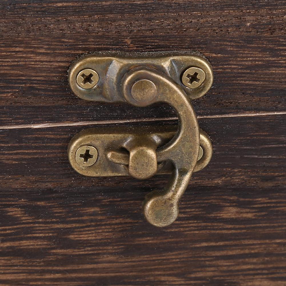 vintage bo te mouchoir en bois porte serviette housse. Black Bedroom Furniture Sets. Home Design Ideas
