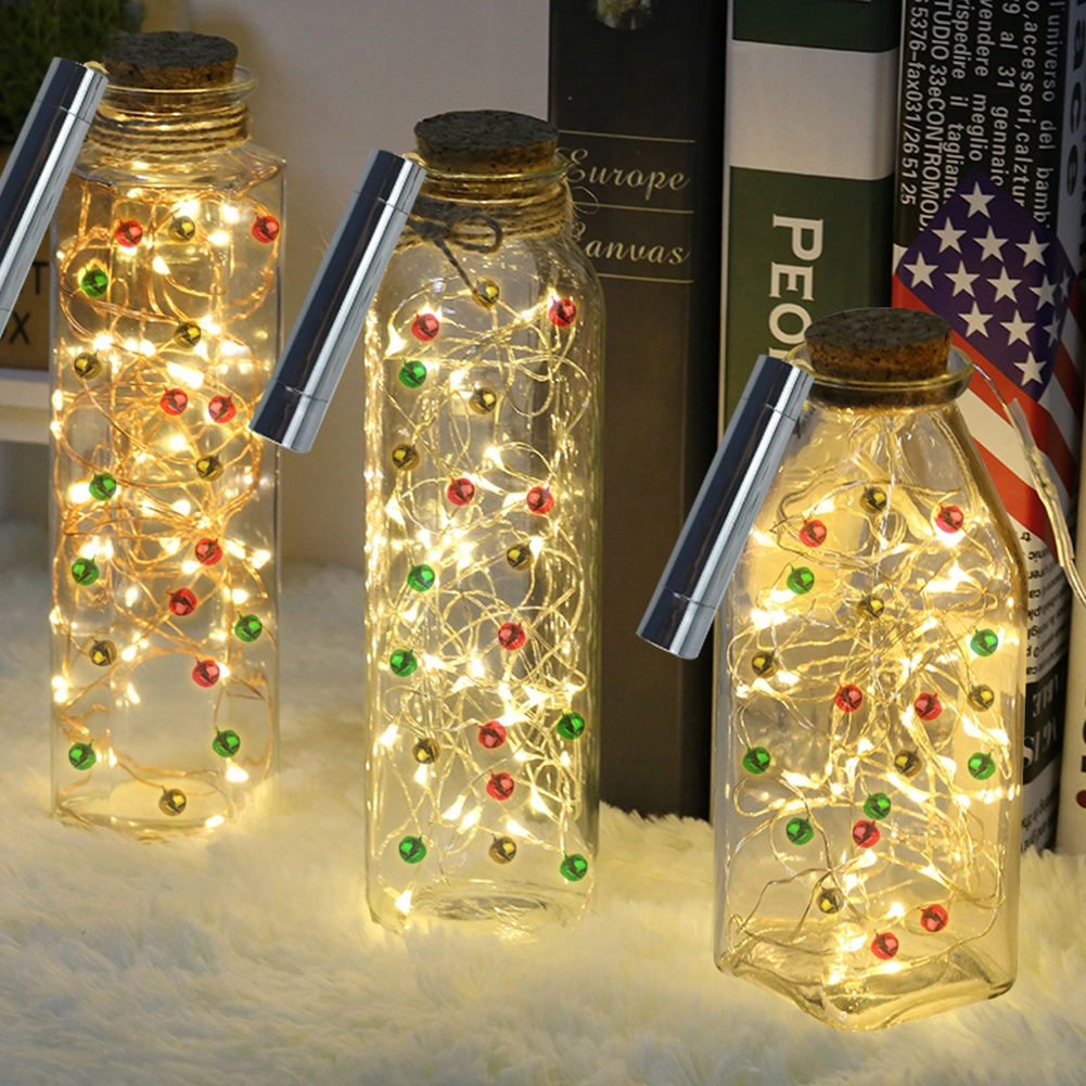 decoration flasche lichterketten led batterie kupferdraht licht weihnachten ebay. Black Bedroom Furniture Sets. Home Design Ideas