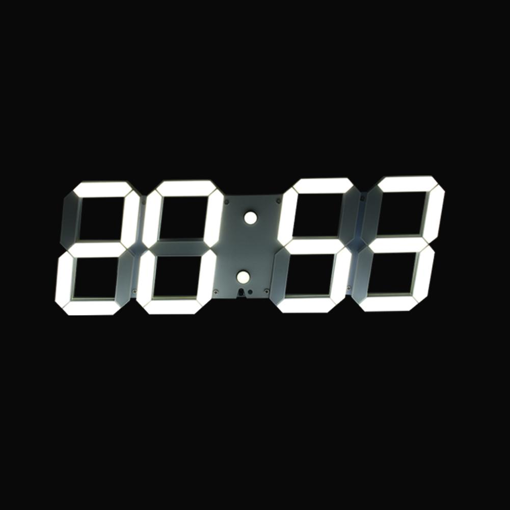 Led Digital Large Wall Clock Remote Alarm Clock Watch Countdown