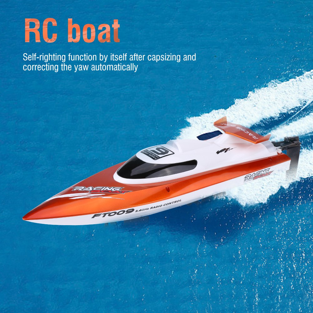 Neuf-FT009-4CH-2-4GHz-RC-Bateau-30km-h-Racing-Speed-Boat-Telecommande-100-150m