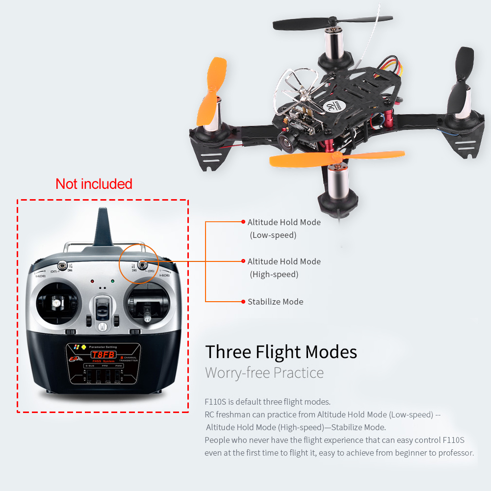 Details about Radiolink F110S Drone Quadcopter R6DSM With Receiver Camera &  FPV Transmitter