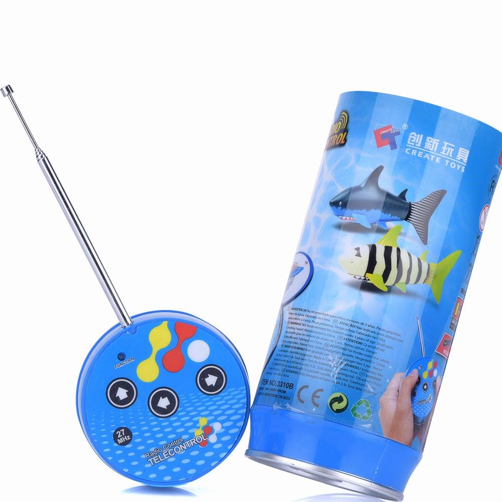 Shark Boat Toy : Cute mini rc fish shark remote control boat ship