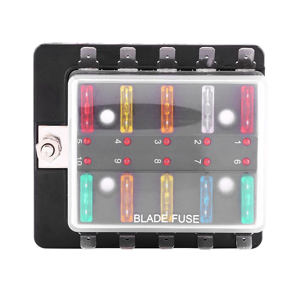 bo tier bo te porte fusible enfichable box 10 emplacements pour voiture auto eur 10 35. Black Bedroom Furniture Sets. Home Design Ideas