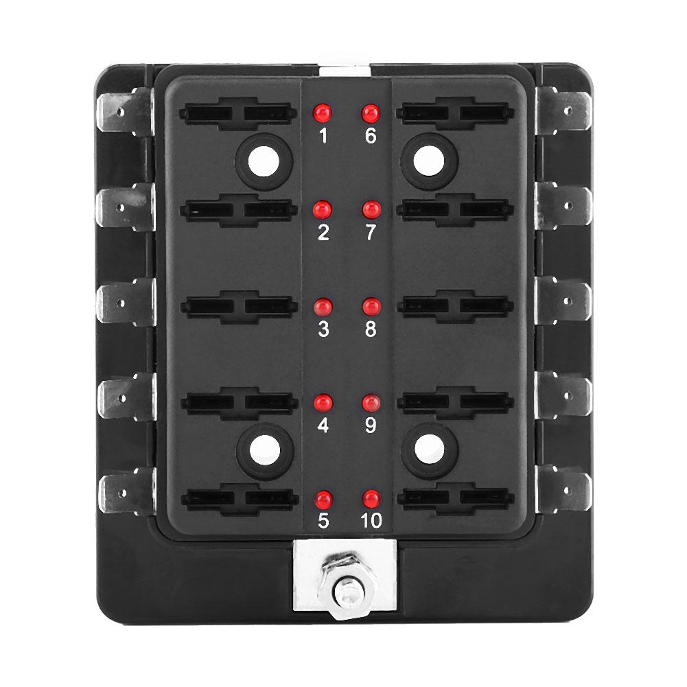 bo tier bo te porte fusible enfichable box 10 emplacements pour voiture auto ebay. Black Bedroom Furniture Sets. Home Design Ideas