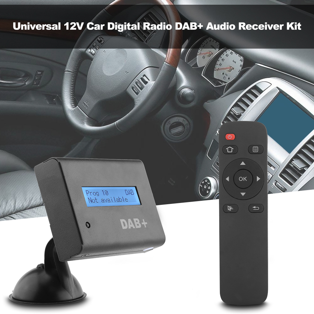universal lcd car dab digital radio audio receiver fm. Black Bedroom Furniture Sets. Home Design Ideas
