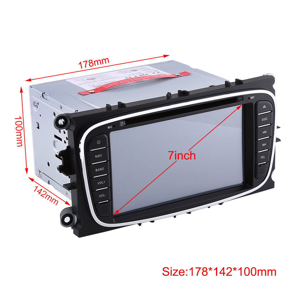2 din 7 auto gps navigation autoradio f r ford mondeo focus s max 2007 2011 ebay. Black Bedroom Furniture Sets. Home Design Ideas
