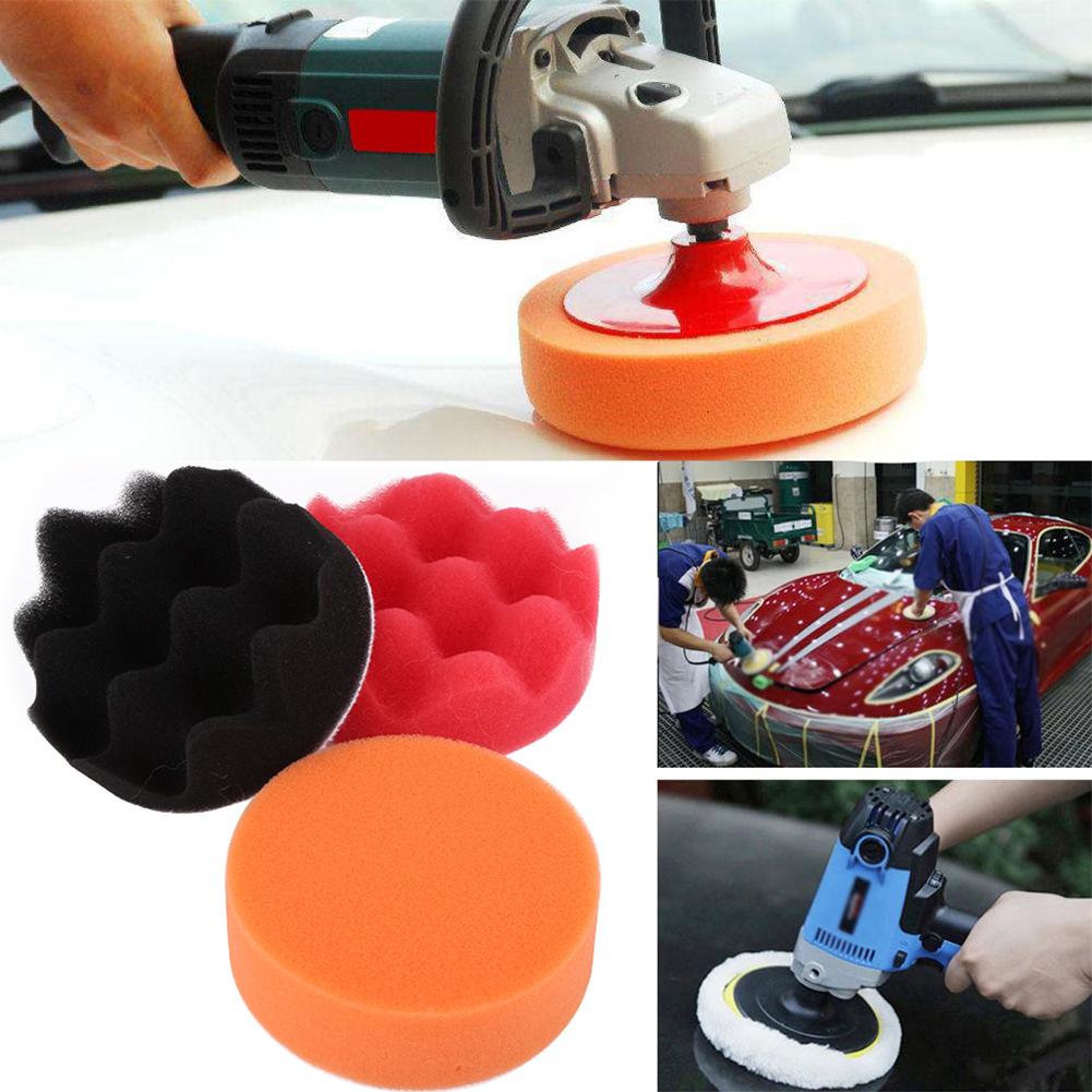 12pcs kit pad tampon ponge de polissage ponceuse lavable polisseur de voiture ebay. Black Bedroom Furniture Sets. Home Design Ideas