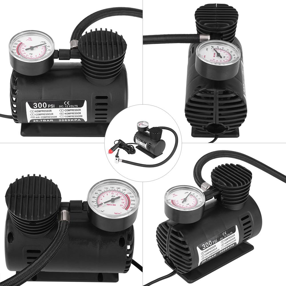 Mini-300PSI-12V-Kompressor-Infaltor-Pumpe-Luftpumpe-Zigarettenanzuender-Fuer-Auto