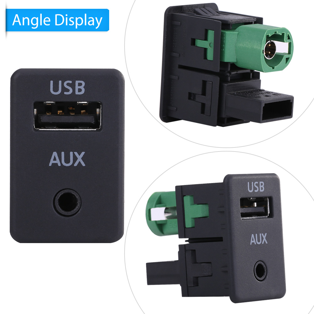 usb aux einbau kabel schalter stecker adapter auto radio. Black Bedroom Furniture Sets. Home Design Ideas