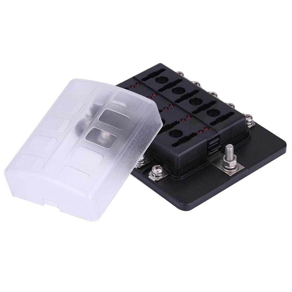 Universal Auto Fuse Box Wire Data Schema Painless Wiring Auxiliary Block Portafusibili Lama 10 Vie Connettori A Morsetti Fusibili E Automotive Advance