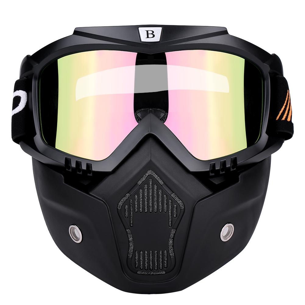 Casque-de-moto-Retro-avec-masque-Amovible-En-Caoutchouc-souple-PC-Lunettes