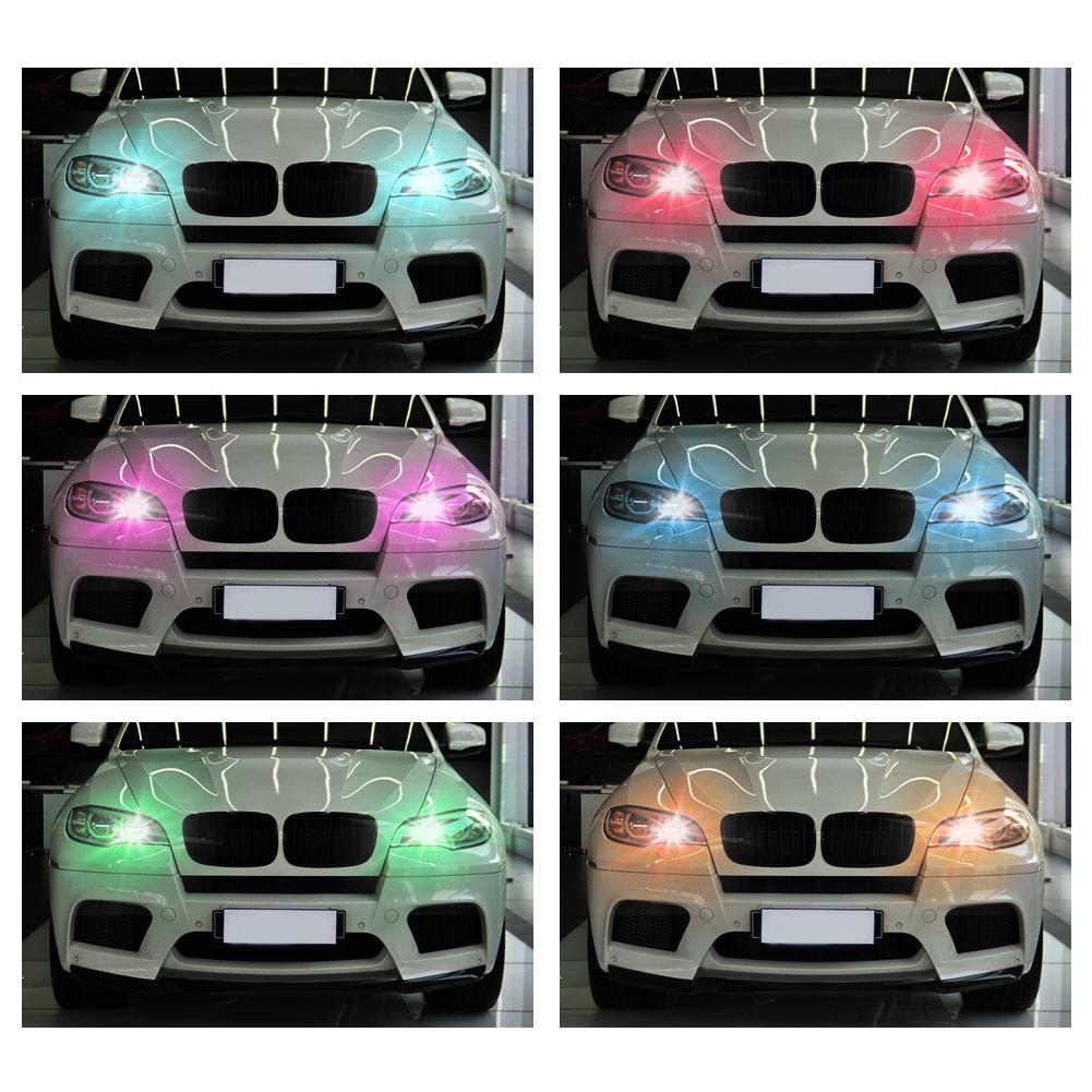 4x t10 smd5050 rgb led bunte auto licht lampe birne standlicht mit fernbedienung ebay. Black Bedroom Furniture Sets. Home Design Ideas