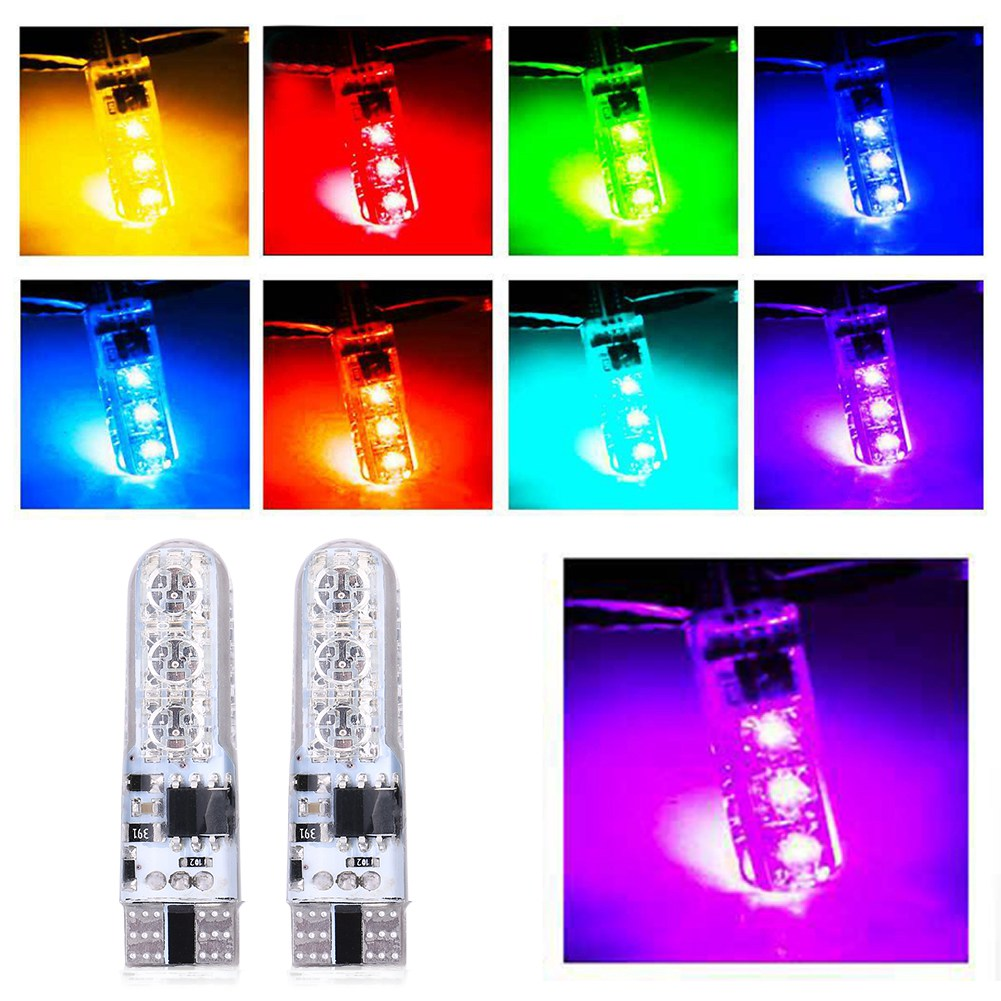 4 veilleuses ampoules voiture led grb smd 5050 w5w t10 16 couleurs t l commande ebay. Black Bedroom Furniture Sets. Home Design Ideas