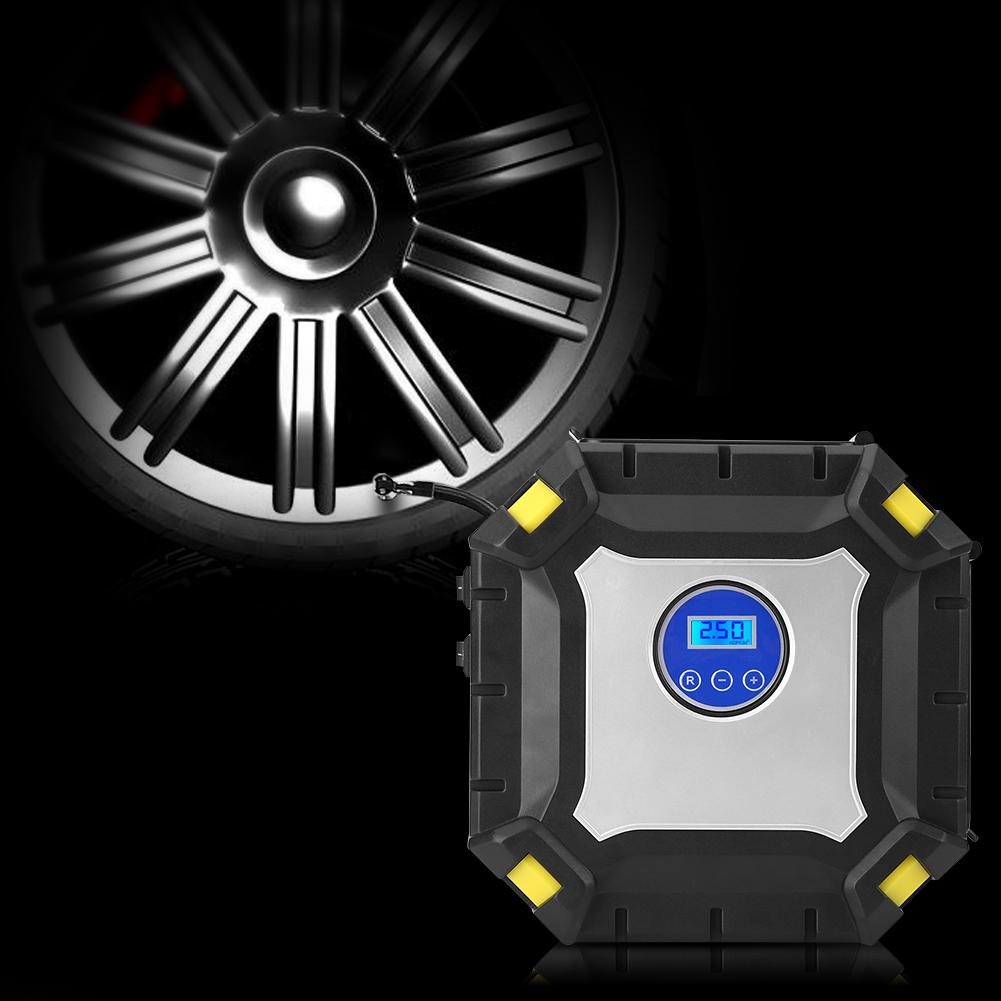 12v portable compresseur d 39 air gonfleur de pneu electrique. Black Bedroom Furniture Sets. Home Design Ideas