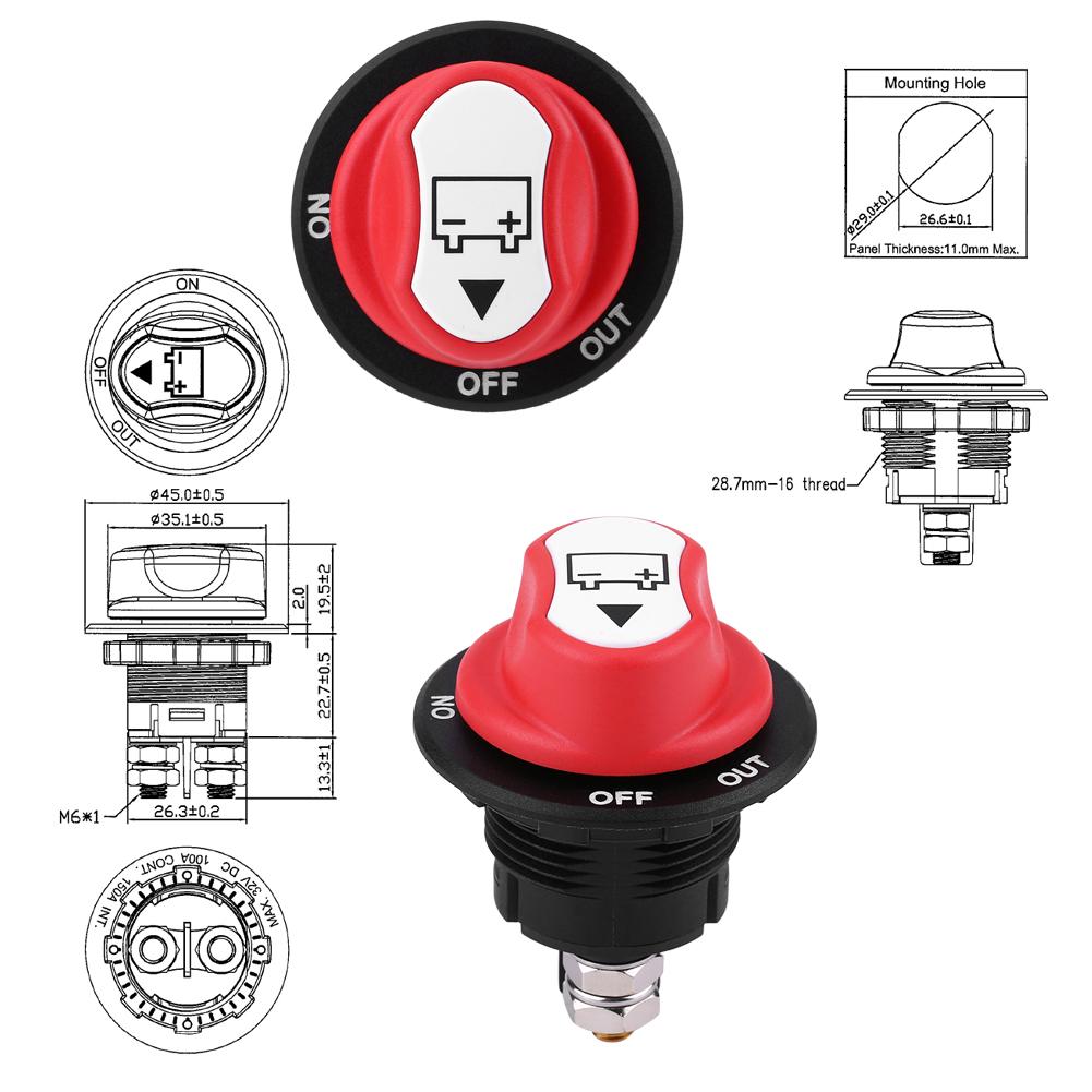 AUTO Marine Boot Batterie Isolator TOOL Trennschalter On /Off ...