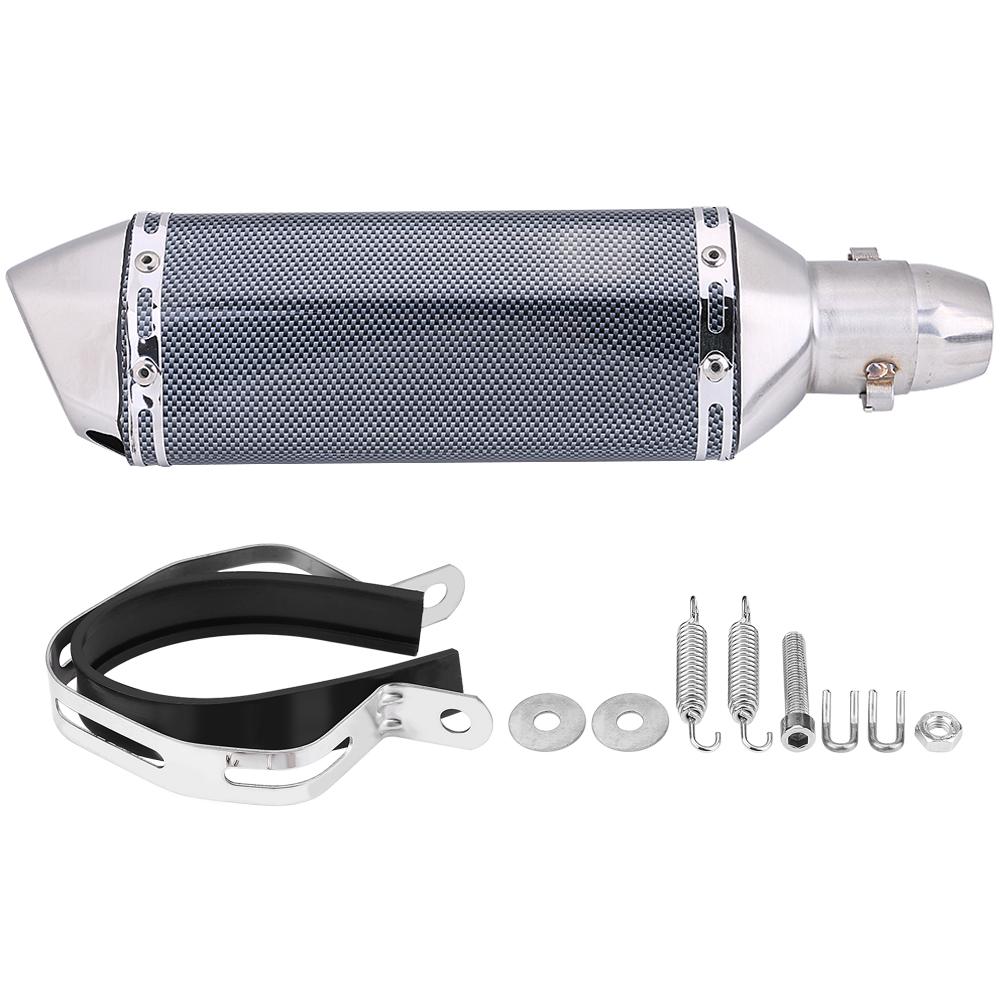 Universal-Moto-Tubo-De-Escape-Cola-De-Silenciador-Acero-Inoxidable-Con-DB-Killer miniatura 36