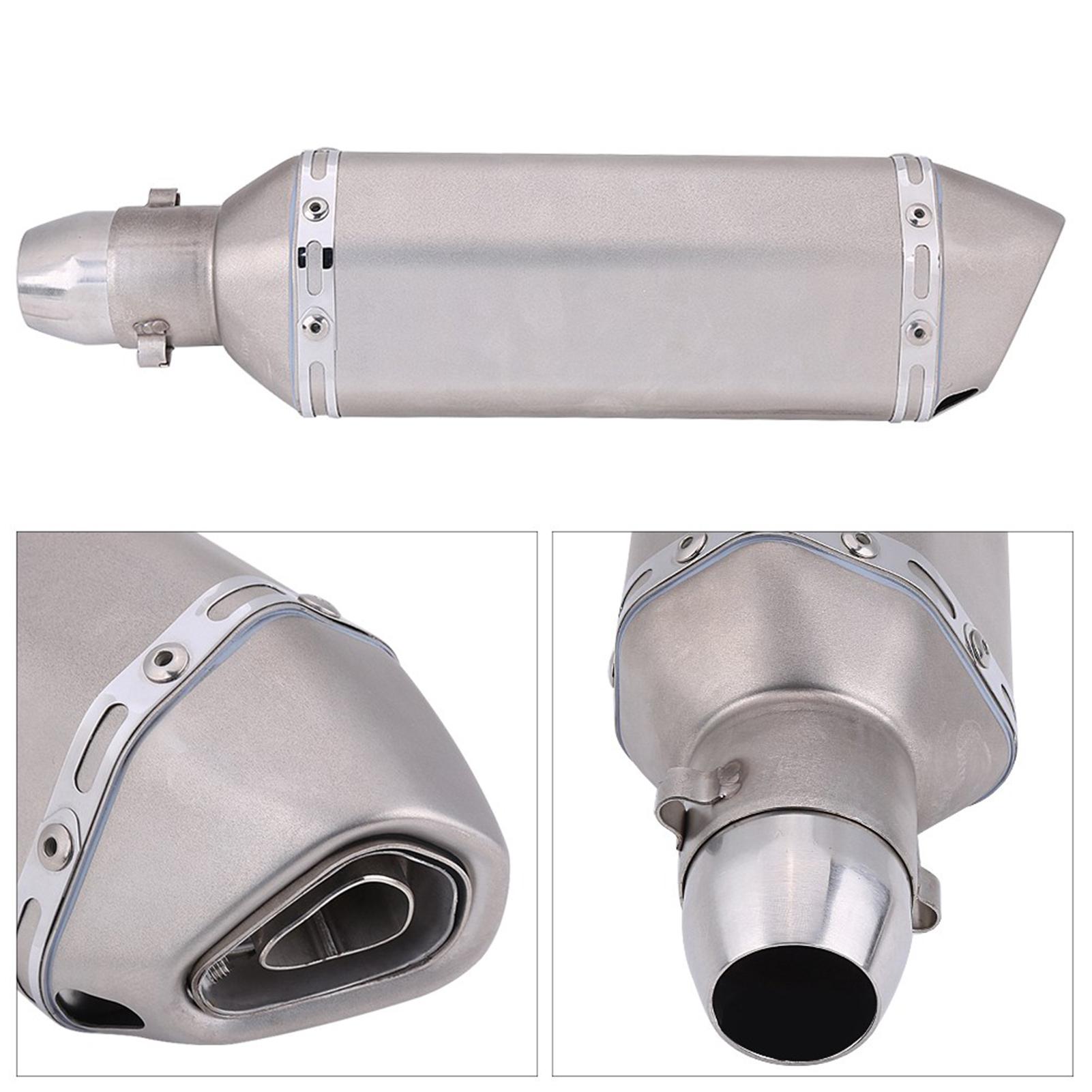 Universal-Moto-Tubo-De-Escape-Cola-De-Silenciador-Acero-Inoxidable-Con-DB-Killer miniatura 56