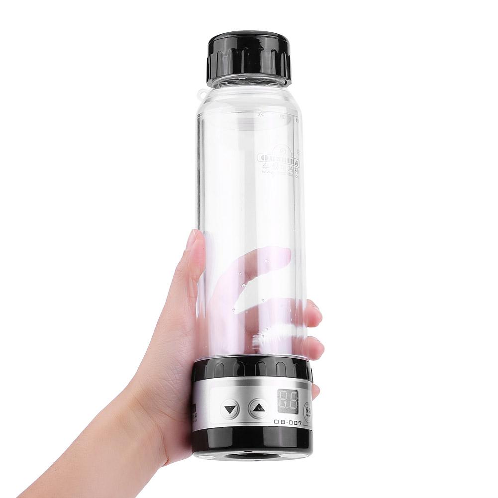 280ml 24v auto glas elektrisch reisewasserkocher heizung flasche tasse heater ebay. Black Bedroom Furniture Sets. Home Design Ideas