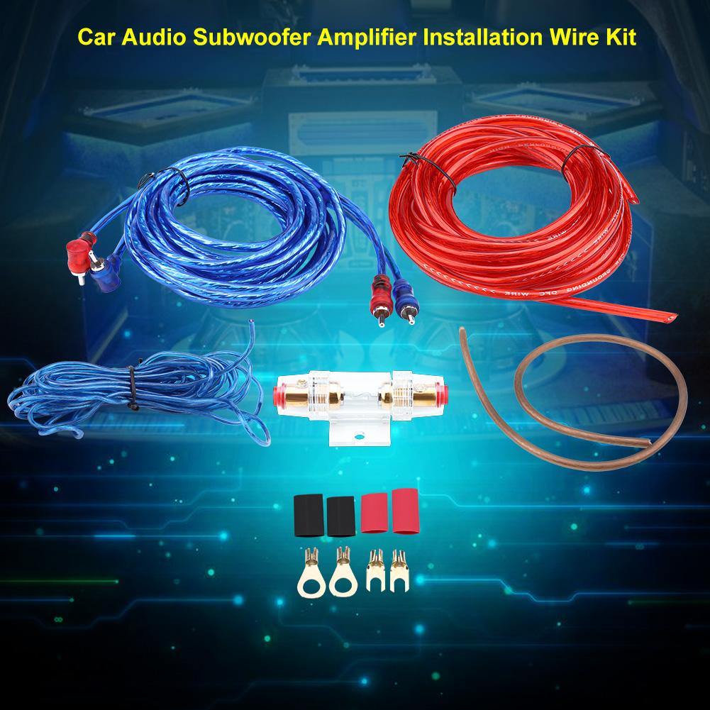 1500w 8ga Car Audio Subwoofer Amplifier Speaker Installation Wire ...