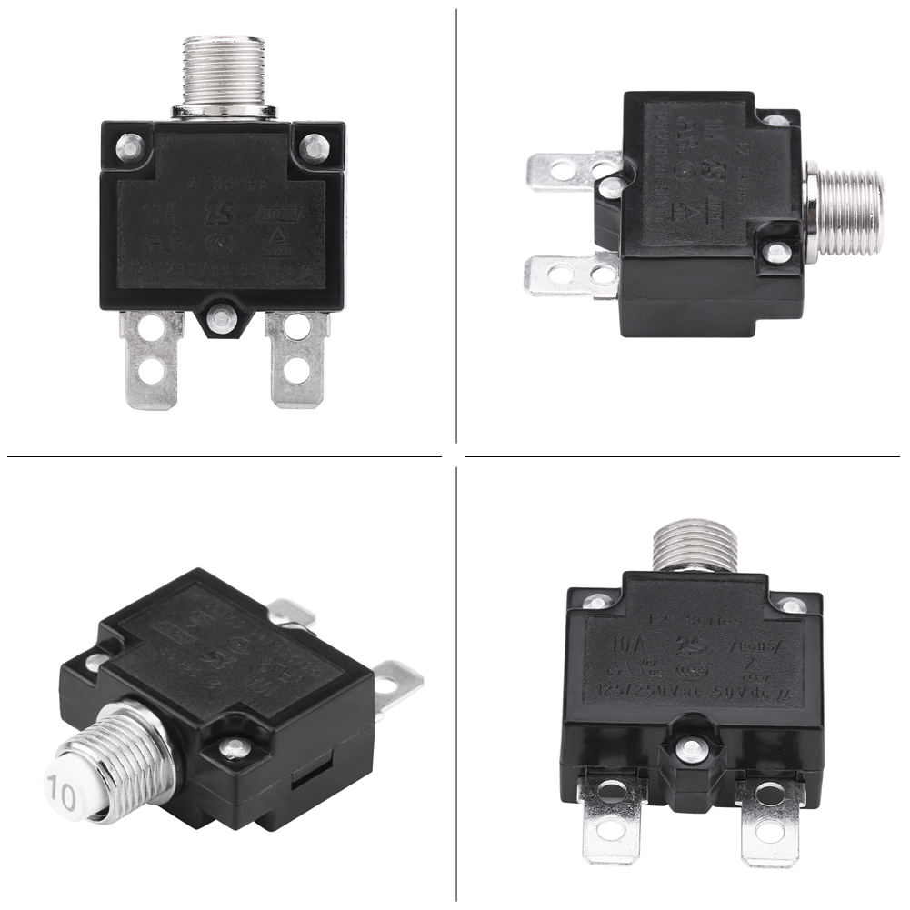 10a 15a 20a Reset Thermal Switch Circuit Breaker Generator Overload