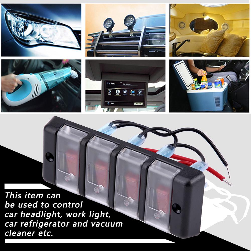 4 Gang Rocker Switch Panel Circuit Breaker Led Voltmeter Rv Car How Does Work