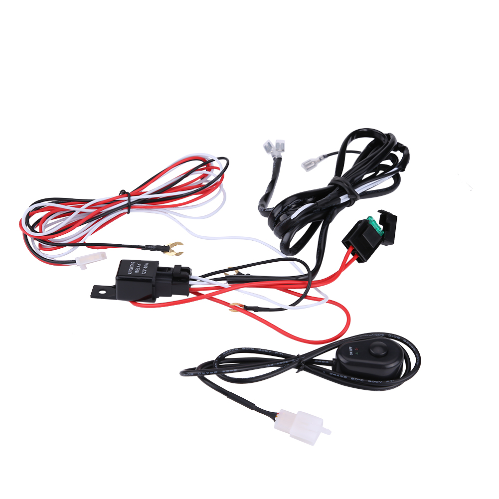 40a 12v Power Switch Relay Wiring Harness Kit For Car Led Light Hid Driving Bar Ebay 7