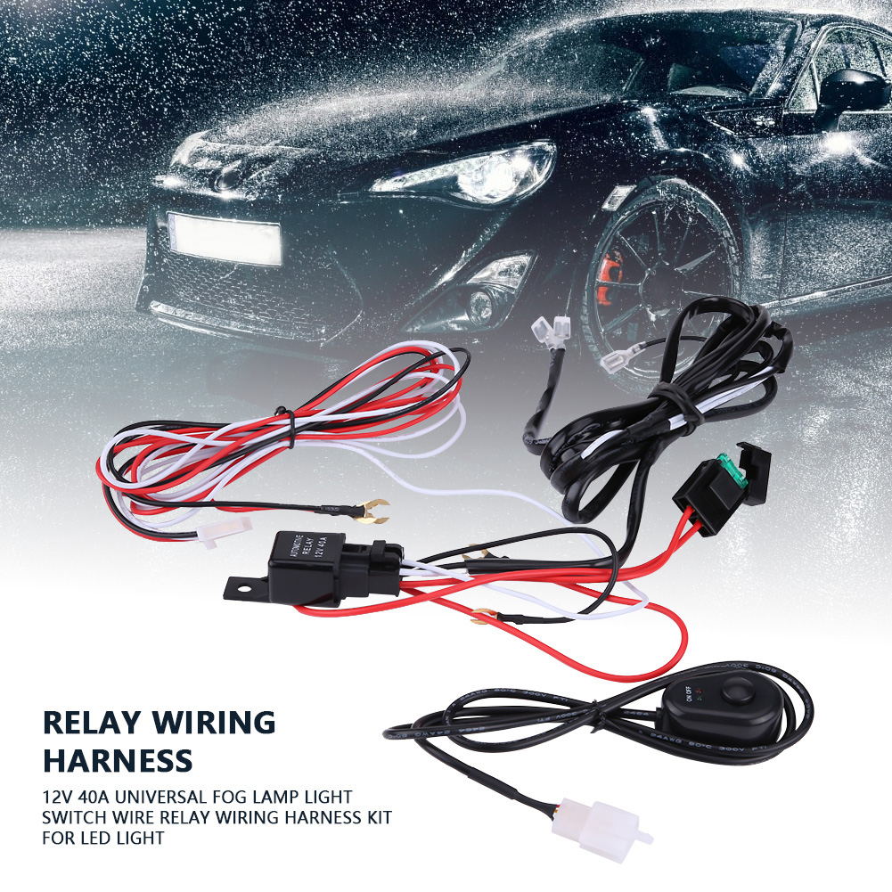 40a 12v Power Switch Relay Wiring Harness Kit For Car Led Light Automotive Supplies Picture 2 Of 10
