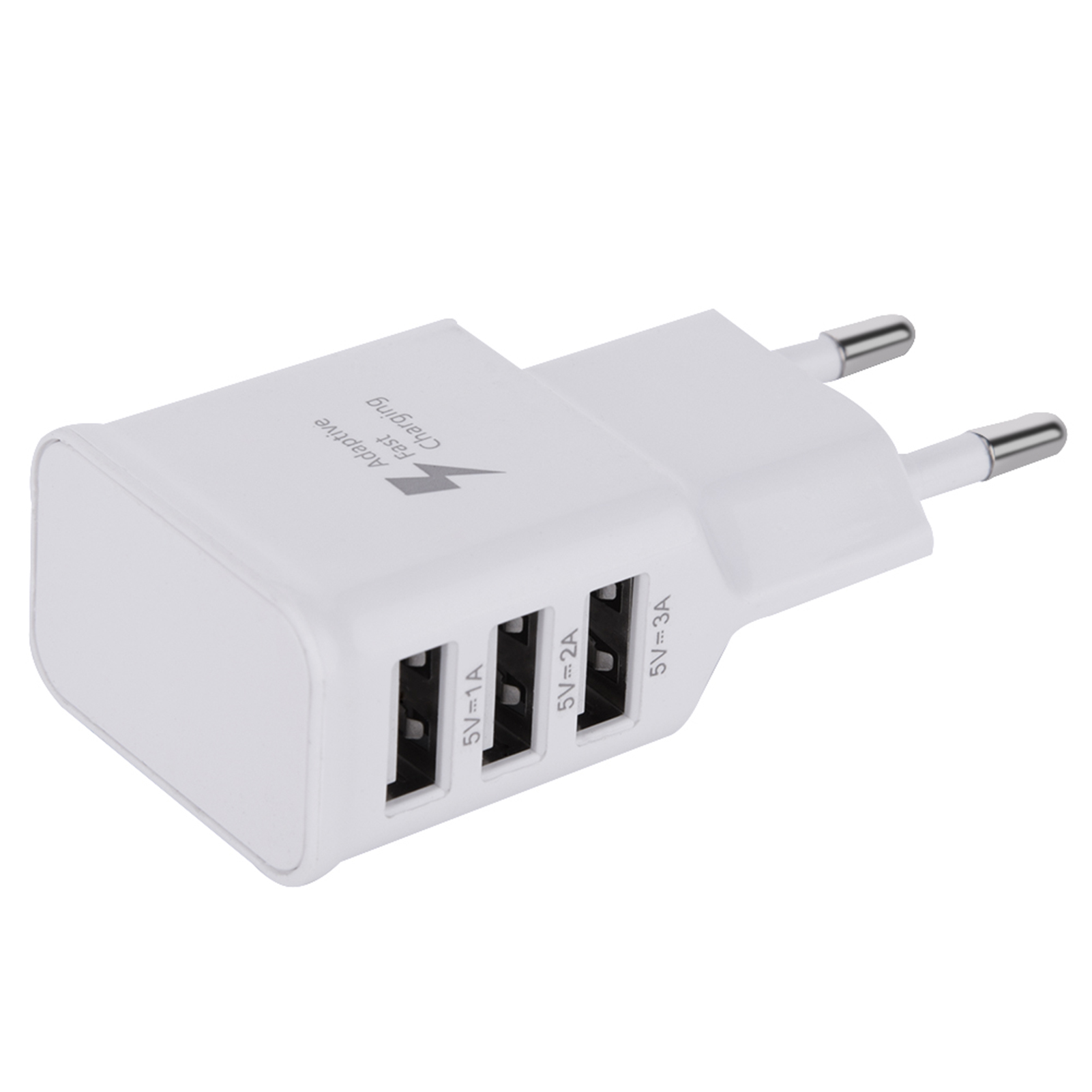 universal 3 port usb wall charger adapter ladeger t f r smartphone eu stecker ge ebay. Black Bedroom Furniture Sets. Home Design Ideas