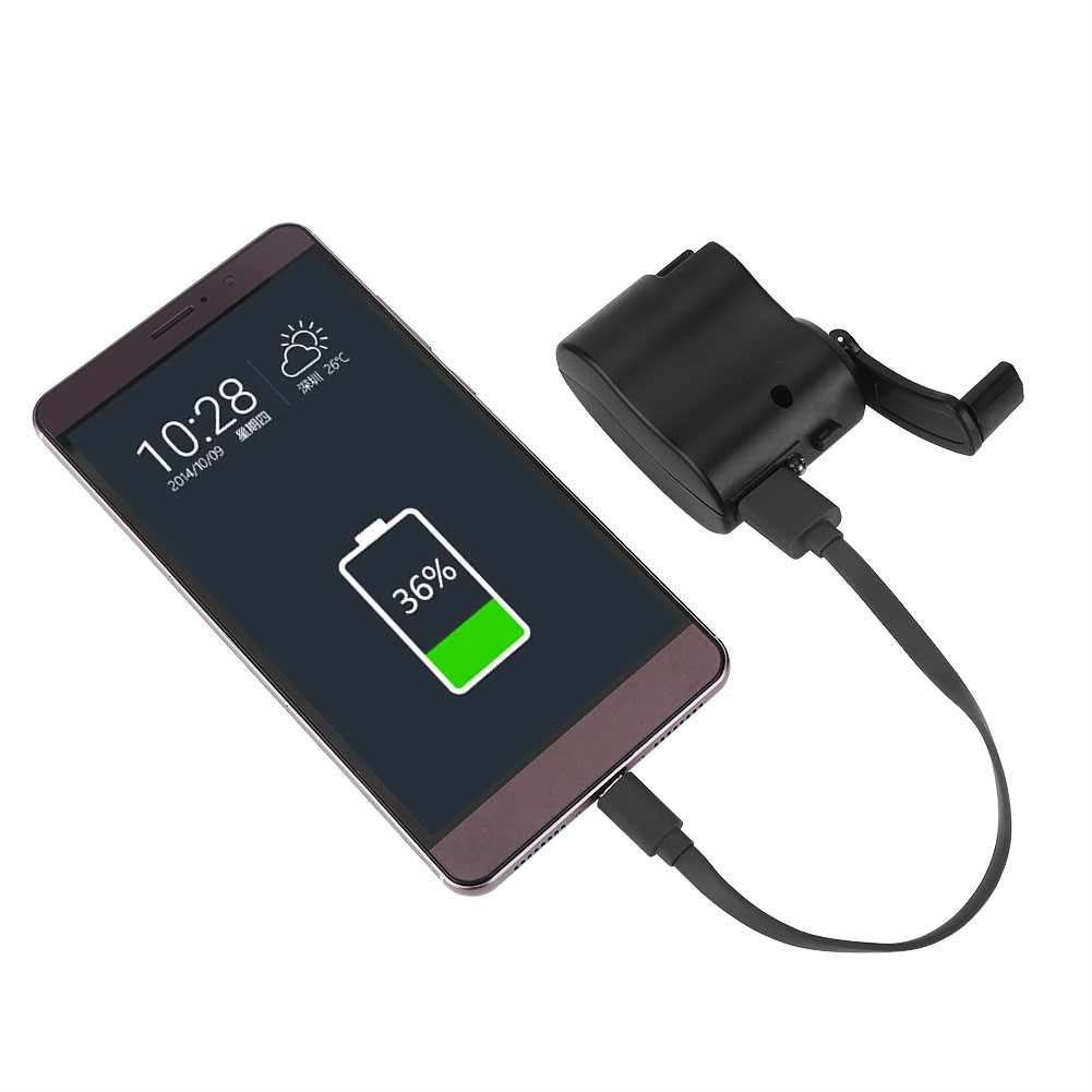 Portable usb power emergency crank hand charger for iphone for Iphone x portable charger