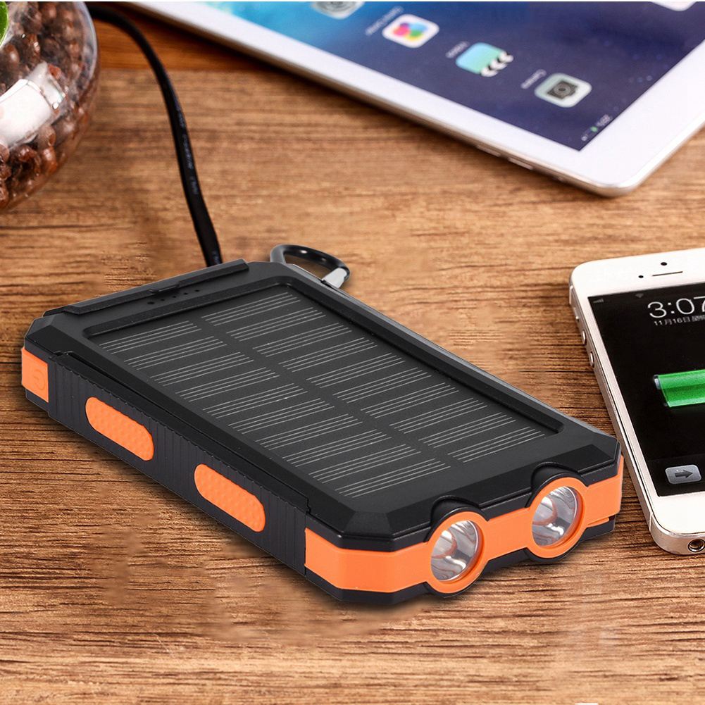 DIY-Power-Bank-10000mAh-Solar-Banco-de-Energia-IP6-2-USB-LED-Brujula-SIN-Bateria